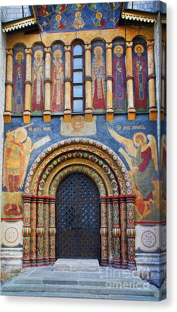 Vault Canvas Print - Assumption Cathedral Entrance by Elena Nosyreva