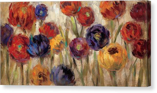 Yellow Flowers Canvas Print - Asters And Mums by Silvia Vassileva