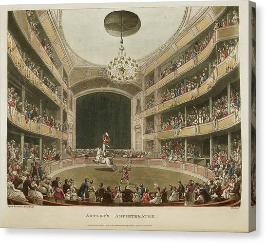 The Amphitheatre Canvas Print - Astley's Amphitheatre by British Library