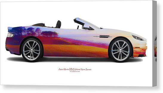 Aston Martin Dbs Volante Nairn Sunset Canvas Print by Jan W Faul