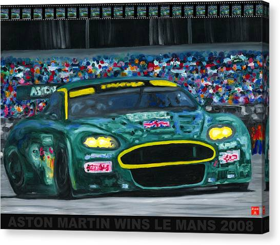 Aston Martin Wins Le Mans 2008 Pop Canvas Print