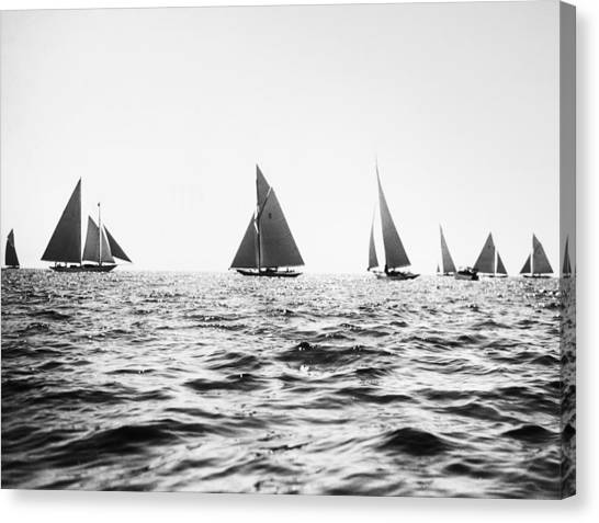 Sailboats racing canvas print astor cup yacht race 1923 by granger