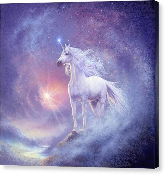 Mythological Creatures Canvas Print - Astral Unicorn by Steve Read