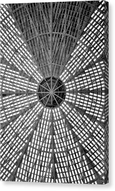 Aac Canvas Print - Astrodome Ceiling by Benjamin Yeager