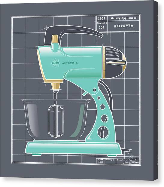 Astromix - Aqua Canvas Print