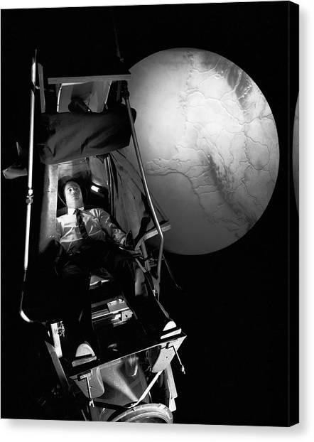 Black 7 White Canvas Print - Astronaut Training by Nasa