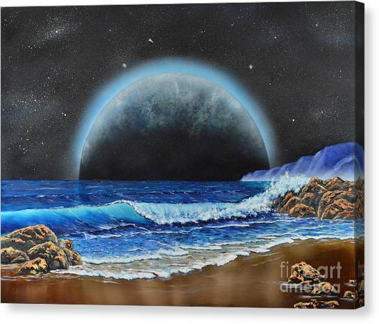 Astronomical Ocean Canvas Print