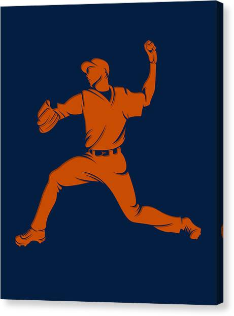 Houston Astros Canvas Print - Astros Shadow Player1 by Joe Hamilton