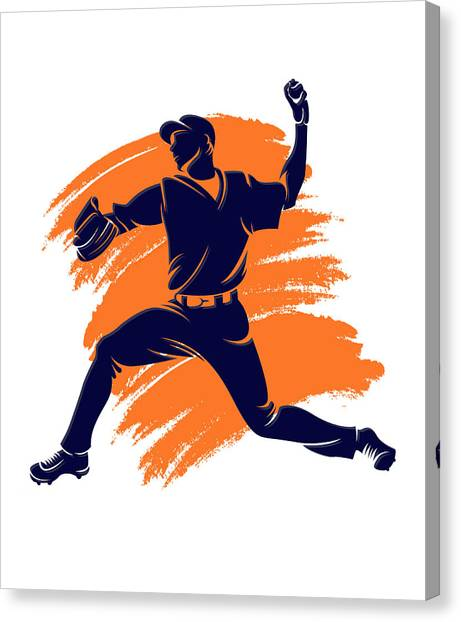 Houston Astros Canvas Print - Astros Shadow Player2 by Joe Hamilton