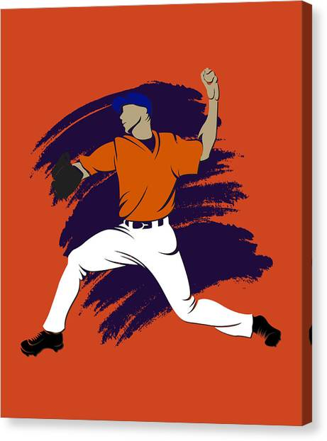 Houston Astros Canvas Print - Astros Shadow Player3 by Joe Hamilton