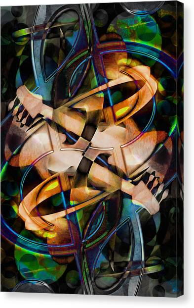 Asturias In G Minor Abstract Canvas Print