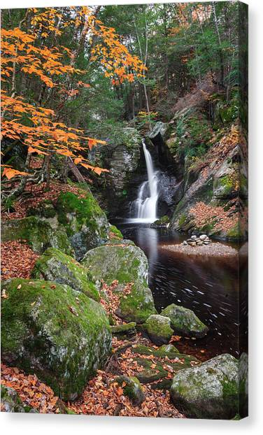 Connecticut Landscape Canvas Print - At A Distance by Bill Wakeley