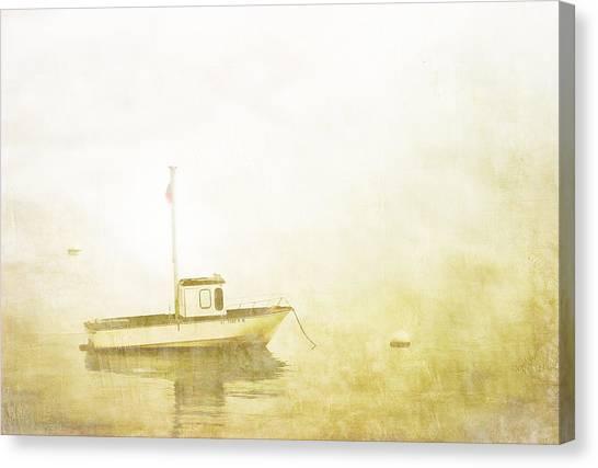 Calm Down Canvas Print - At Anchor Bar Harbor Maine by Carol Leigh