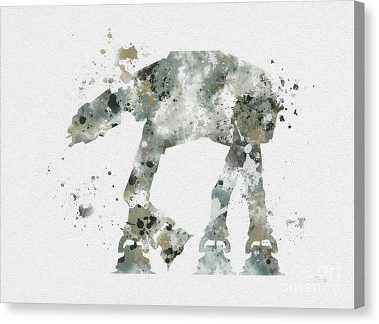 Chewbacca Canvas Print - At - At by Rebecca Jenkins