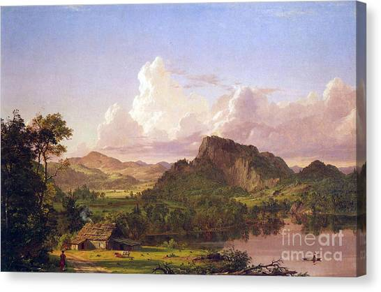 At Home On The Lake By Frederick Edwin Church Canvas Print