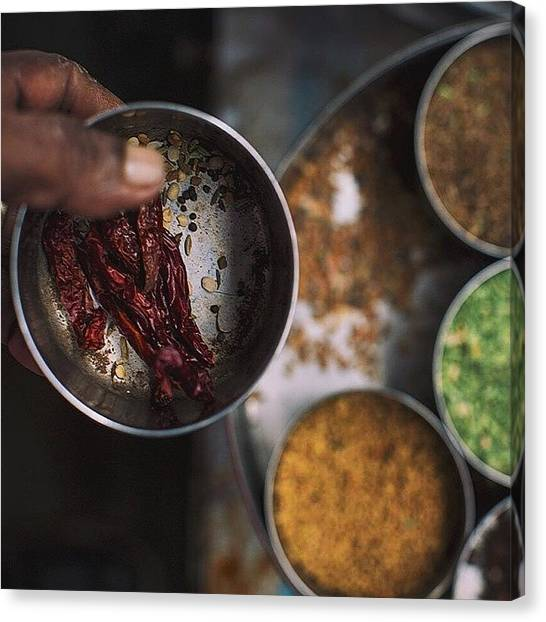 Georgetown University Canvas Print - At My Favorite Dosa Shop For #breakfast by David  Hagerman