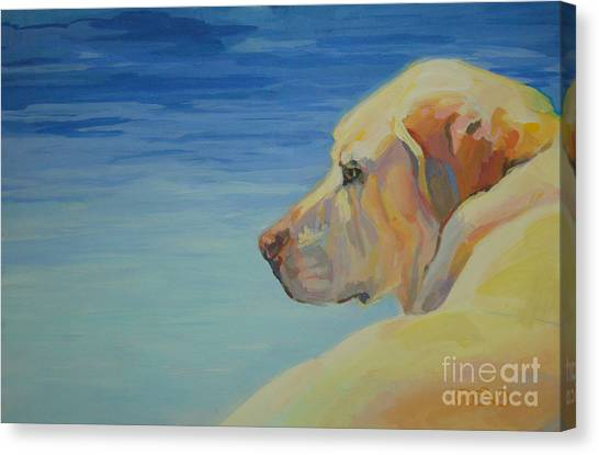 Labrador Retriever Canvas Print - At Peace by Kimberly Santini