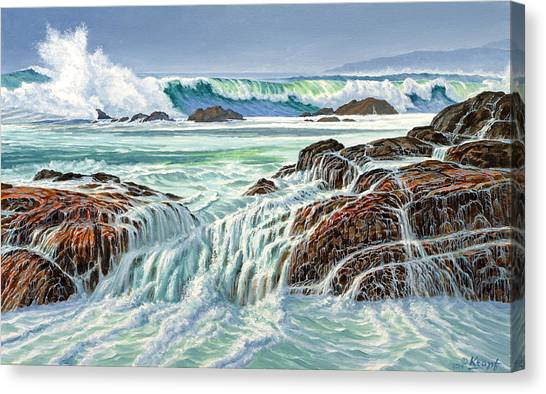 Pacific Coast Canvas Print - At Point Lobos by Paul Krapf