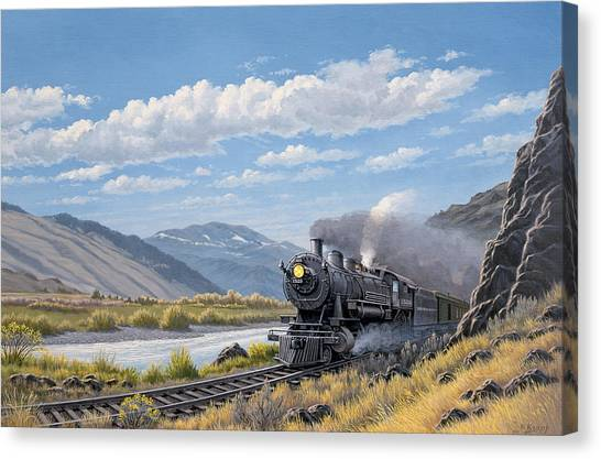 Trains Canvas Print - At Point Of Rocks- Bound For Livingston  by Paul Krapf