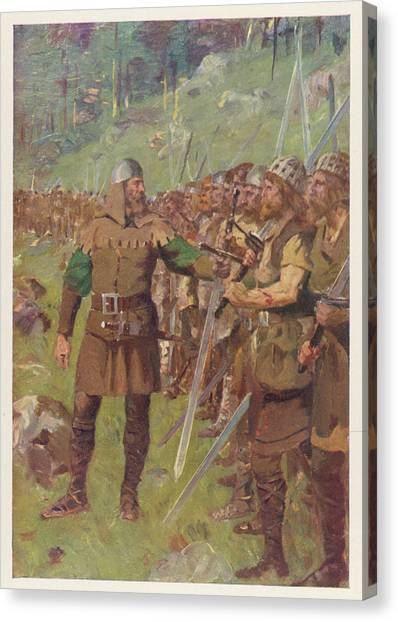 At Sempach Arnold Of  Winkelried Canvas Print by Mary Evans Picture Library