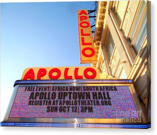 Apollo Theater Canvas Print - At The Apollo by Ed Weidman