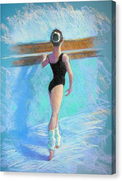 At The Barre Canvas Print by Jackie Simmonds