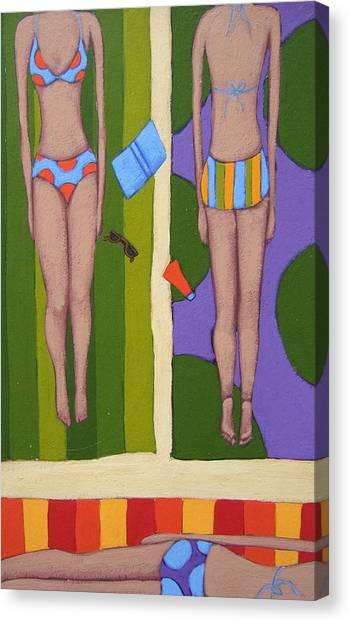 Bikini Canvas Print - Bikinis At The Beach by Christy Beckwith