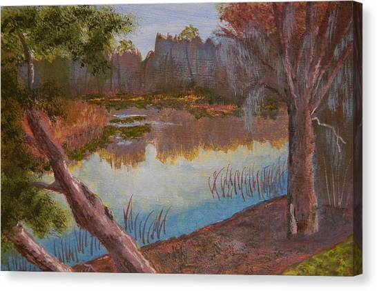 At The Bend On The Ocklawaha  Canvas Print by Warren Thompson