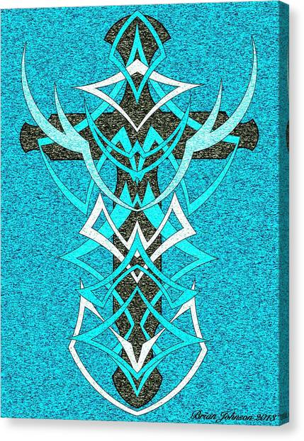 At The Cross Tile 2 Canvas Print by Brian Johnson