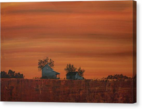 At The Edge Of The Day Canvas Print by William Renzulli
