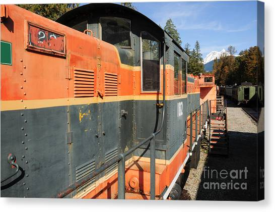 At The End Of The Railroad Canvas Print by Malu Couttolenc