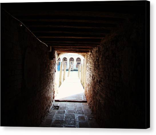 At The End Of The Tunnel Canvas Print