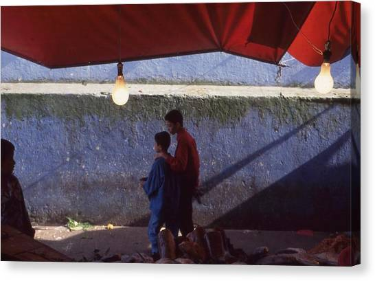 At The Fish Market Casablanca 1996 Canvas Print by Rolf Ashby