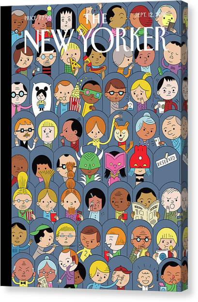 At The Movies Canvas Print by Ivan Brunetti