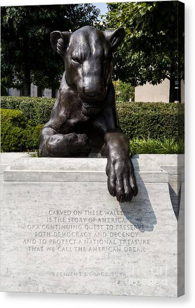 At The National Law Enforcement Officers Memorial In Washington Dc Canvas Print