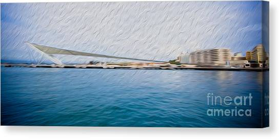 At The Pier In San Juan Puerto Rico Canvas Print