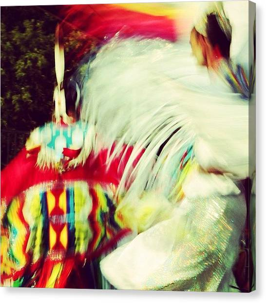 Landmark Canvas Print - At The Pow Wow by Heidi Hermes
