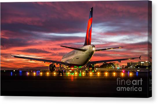 At The Starting Line Canvas Print