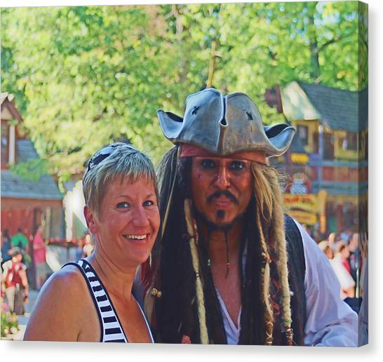 At The Renaissance Fair Canvas Print by Victoria Sheldon
