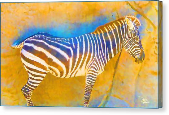 At The Zoo - Zebras Canvas Print