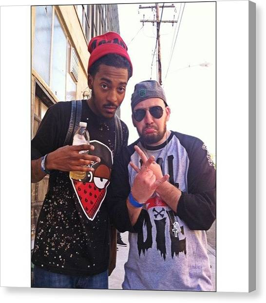 Backpacks Canvas Print - At #uglybass Chillin With @chillmoody by Marcus Friedhofer