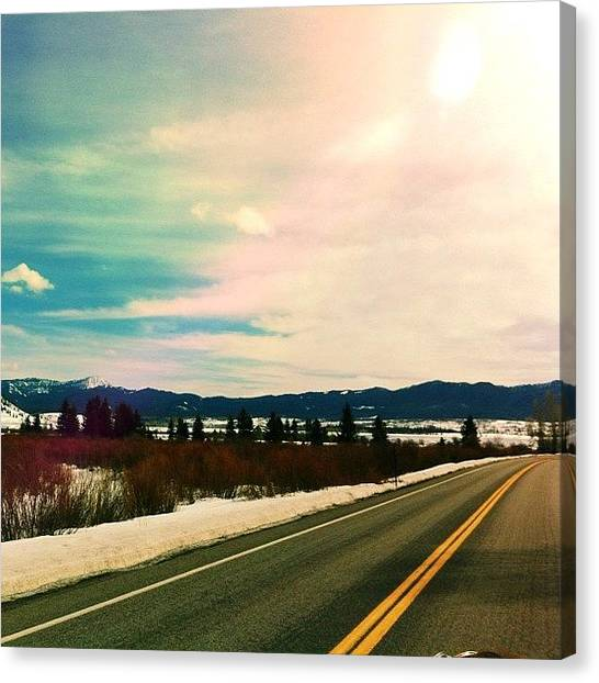 Tetons Canvas Print - At Work, Flipping Through My Photo by Tiffiny Costello