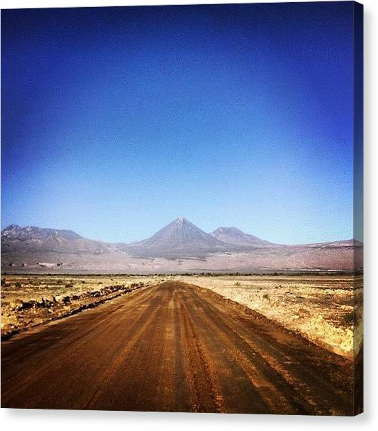 Dirt Road Canvas Print - Atacama Desert by Eddie Obo