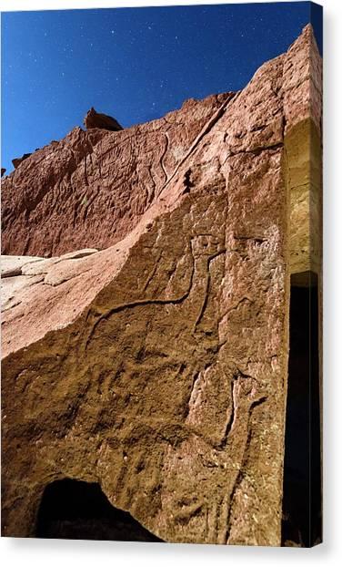 Atacama Desert Canvas Print - Atacama Petroglyphs by Babak Tafreshi/science Photo Library