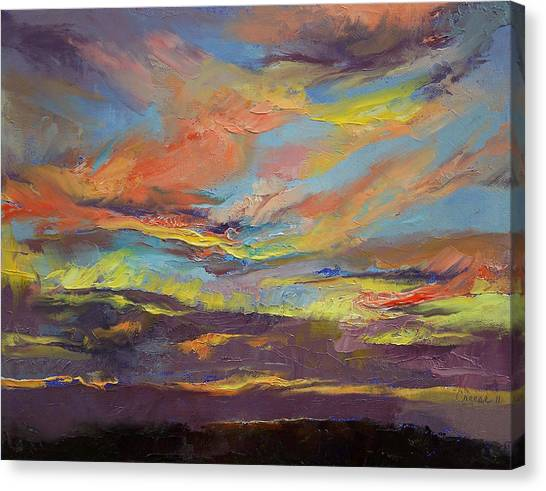 Peruvian Canvas Print - Atahualpa Sunset by Michael Creese