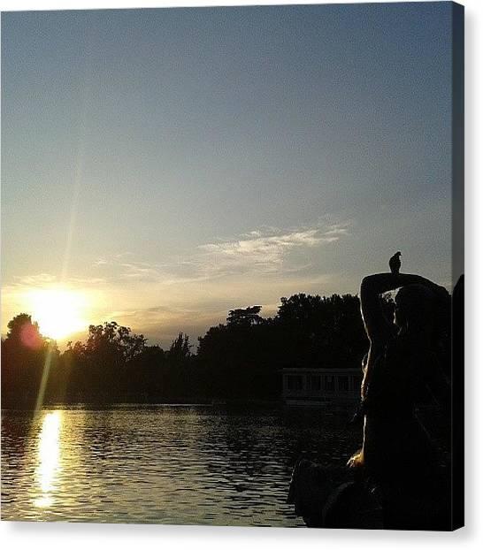 Lake Sunsets Canvas Print - Atardecer En El Retiro :) #sun #sunset by Ana Maria Beatrice Ifrim