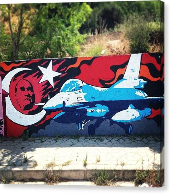 F16 Canvas Print - #ataturk #turkish #turkey #f16 by Tunc Dindas
