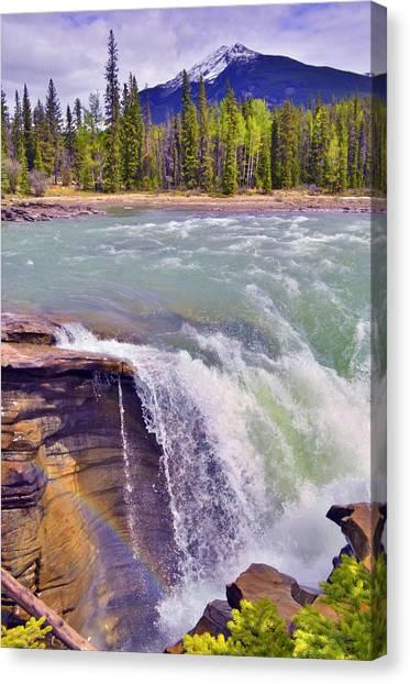 Athabasca Falls Canvas Print - Athabasca Falls by Tara Turner