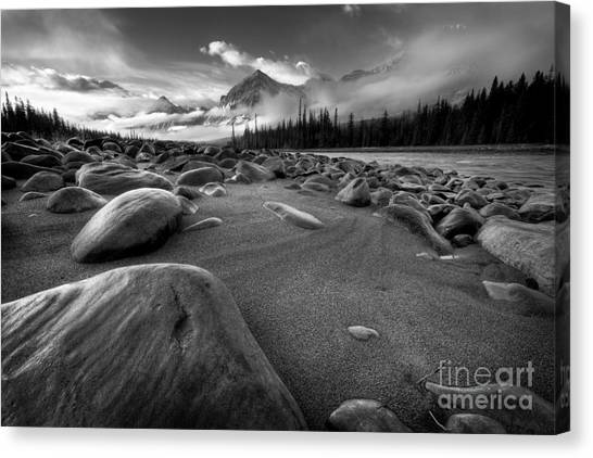 Athabasca River Water Worn Stones Canvas Print