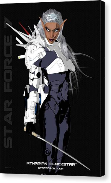 Science Fiction Canvas Print - Atharian Blackstar Print #1 by Donnie Maynard Christianson